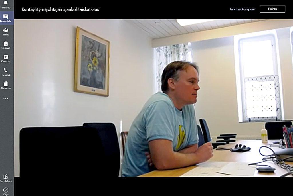 Kuntayhtymäjohtaja Antti Lahti.