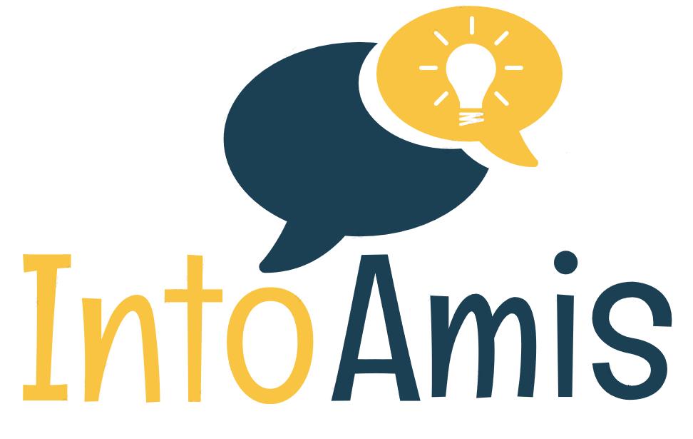 Sinikeltainen IntoAmis -logo.