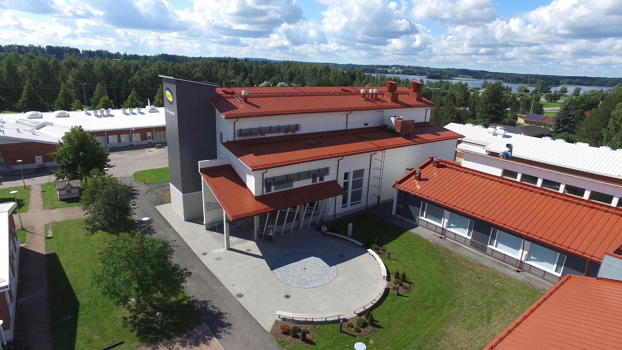 Ilmakuva Saskyn IDEA-kampuksen rakennuksista.