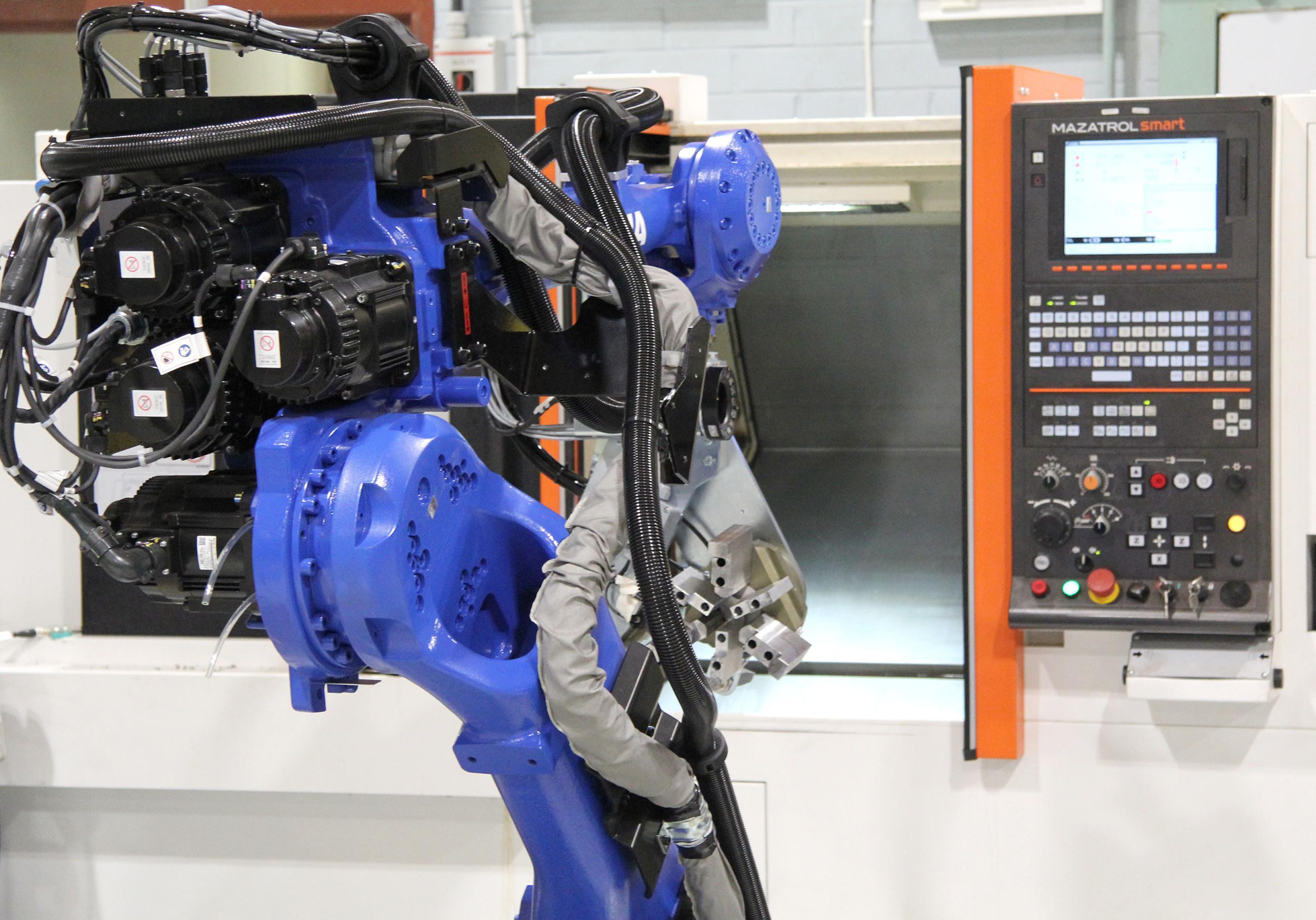 Metallin työstökeskuksen robottiyksikkö.