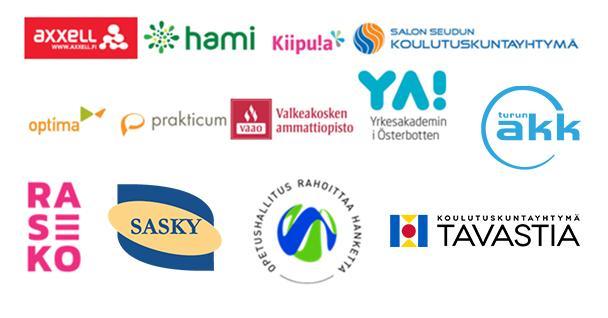 Koulutuksenjärjestäjien logoja.